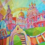 """Картина Любови Егоровой """"Утреня. Иверский монастырь"""""""