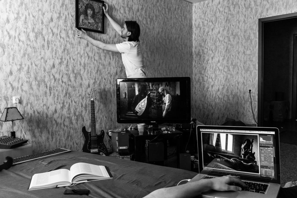 «Автопортрет с мужем и картиной»