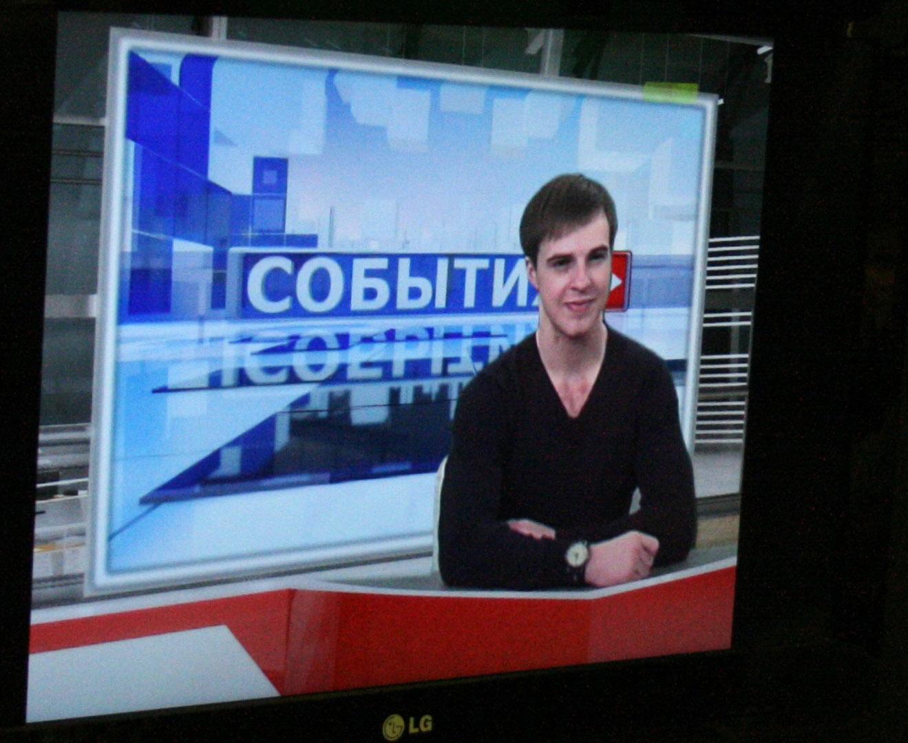 7.Женя Воронцов в роли телеведущего