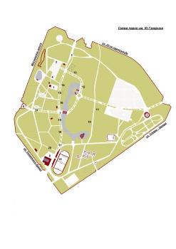 Схема парка имени Юрия Гагарина