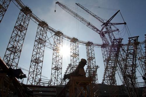 """Строительство стадиона """"Самара Арена"""".Автор - Игорь Горшков."""