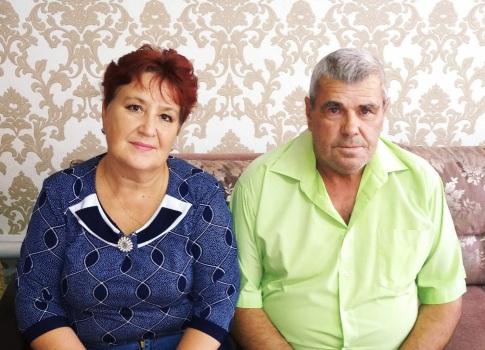 Супруги Егорины из с.Чёрновка